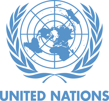 United Nations logo blue