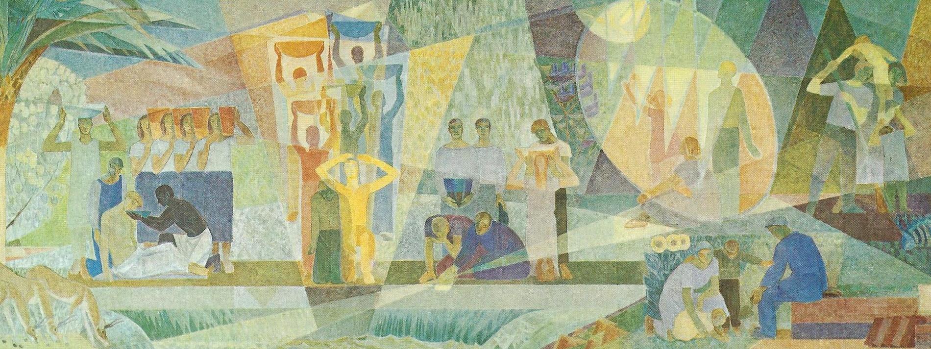 Lennart Segerstrale At the spring of life fresco