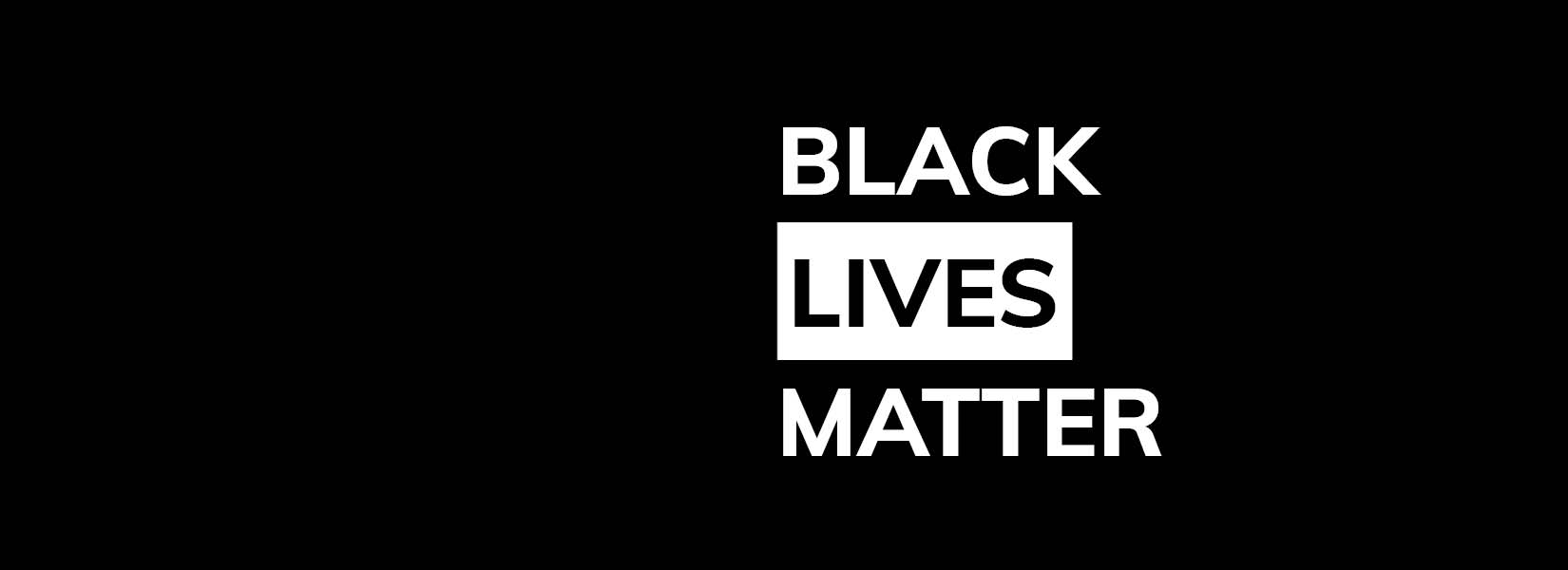 Black lives matter homepage