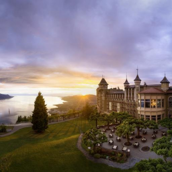 Caux_Palace_Sunset
