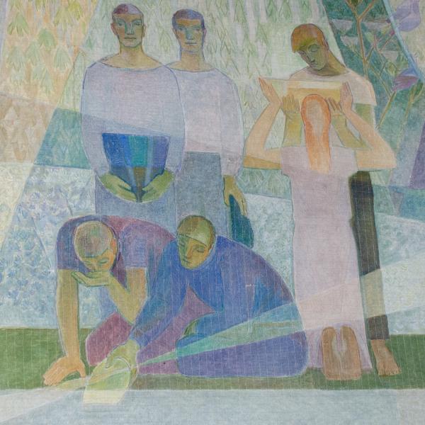 Lennart segerstrale fresco dining-room Water