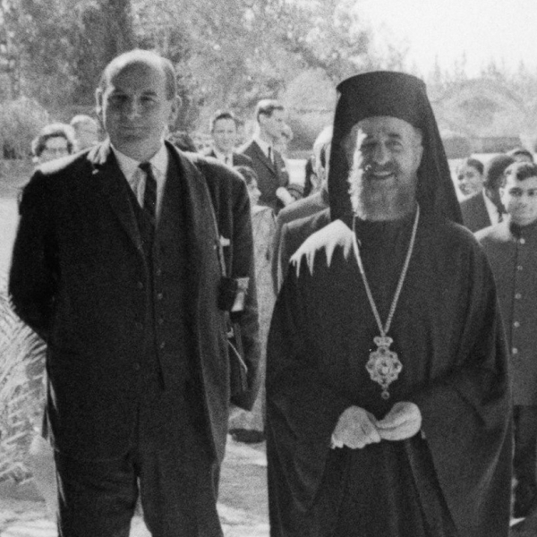 Marcel Grandy and Archbishop Makarios