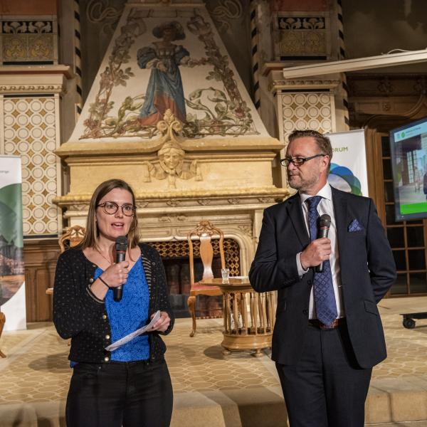 Stephanie Buri and Nick Foster Opening Ceremony Caux Forum 2021