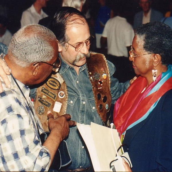 Hope in the Cities - Dr Robert Taylor (left, John Smith and Audrey Burton at Caux 1992