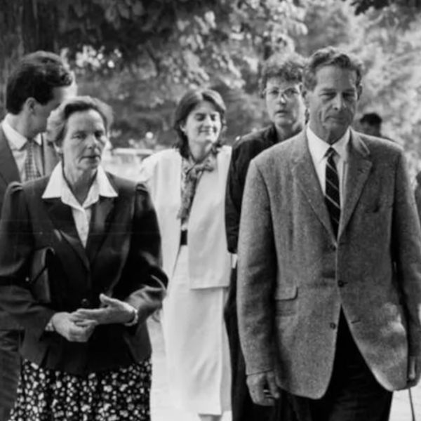 King Michael of Romania, Queen Anne and young Romanians in Caux 1990