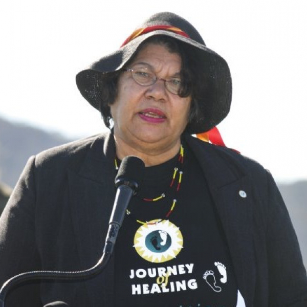 Ningali Cullen speaken at the dedication of a national memorial to the Stolen Generations 2004
