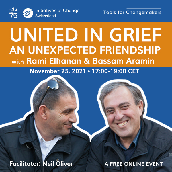 United in Grief with Bassam Arami and Rami Elhanan - square